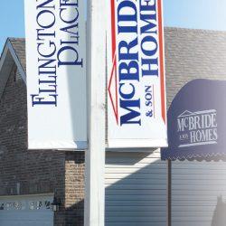 custom street pole banners