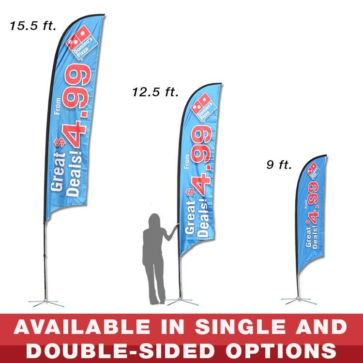 shark fin banners